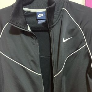 Nike women's black and white track sweater